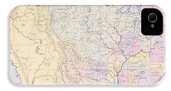Map Showing The Localities Of The Indian Tribes Of The Us In 1833 IPhone 4 / 4s Case by Thomas L McKenney and James Hall