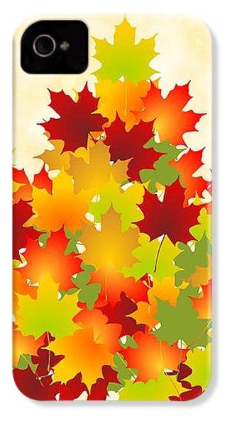 Maple Leaves IPhone 4 Case by Anastasiya Malakhova