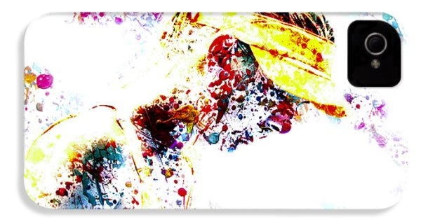 Maria Sharapova Paint Splatter 4p                 IPhone 4 Case by Brian Reaves