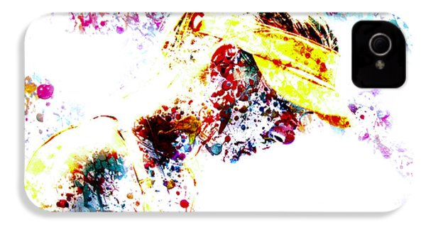 Maria Sharapova Paint Splatter 4p                 IPhone 4 / 4s Case by Brian Reaves