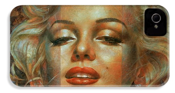 Marilyn Monroe IPhone 4 Case by Arthur Braginsky
