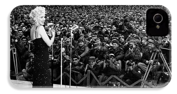 Marilyn Monroe Entertaining The Troops In Korea IPhone 4 Case by American School