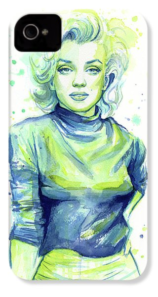 Marilyn Monroe IPhone 4 Case by Olga Shvartsur