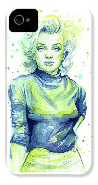 Marilyn Monroe IPhone 4 Case by Olga Shvartsur