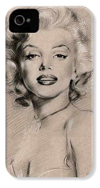 Marilyn Monroe IPhone 4 Case by Ylli Haruni