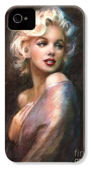 Marilyn Romantic Ww 1 IPhone 4 / 4s Case by Theo Danella