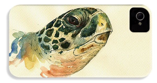 Marine Turtle IPhone 4 Case by Juan  Bosco