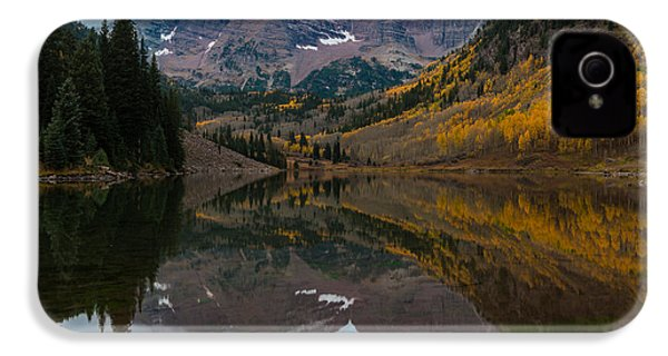 Maroon Bells IPhone 4 Case by Gary Lengyel