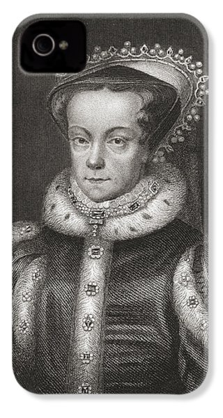 Mary I, 1516 IPhone 4 Case by Vintage Design Pics