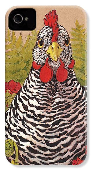 Matilda In The Geraniums IPhone 4 Case by Tracie Thompson