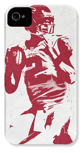 Matt Ryan Atlanta Falcons Pixel Art 2 IPhone 4 Case by Joe Hamilton