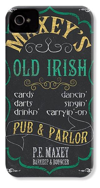 Maxey's Old Irish Pub IPhone 4 Case by Debbie DeWitt