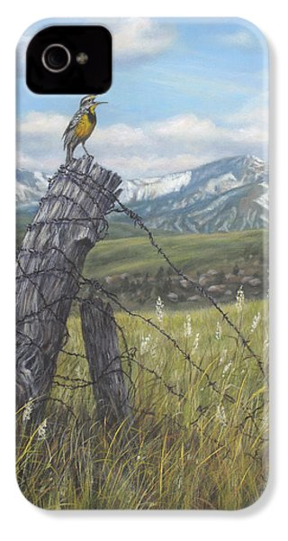 Meadowlark Serenade IPhone 4 / 4s Case by Kim Lockman