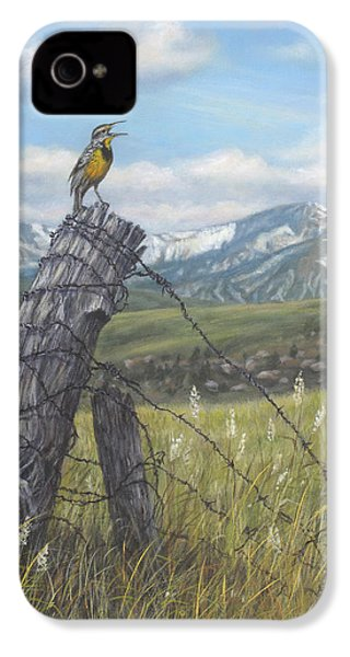 Meadowlark Serenade IPhone 4 Case by Kim Lockman