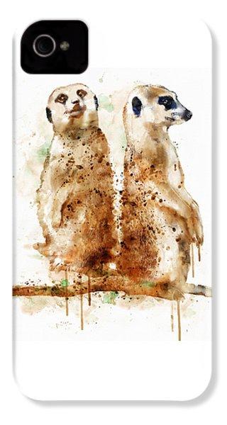 Meerkats IPhone 4 Case by Marian Voicu