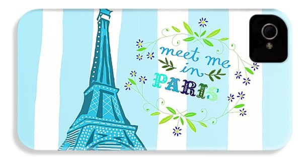 Meet Me In Paris IPhone 4 Case by Priscilla Wolfe