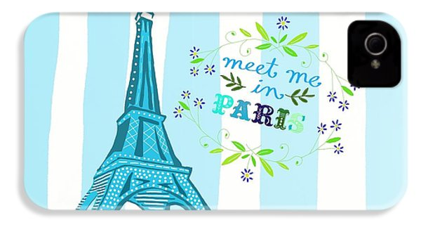 Meet Me In Paris IPhone 4 Case by Priscilla Wolfe