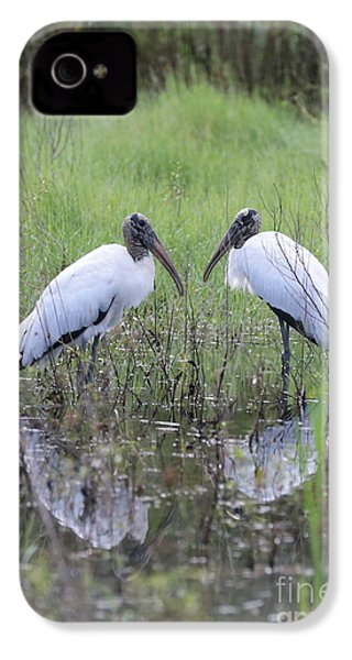 Meeting Of The Minds IPhone 4 Case by Carol Groenen