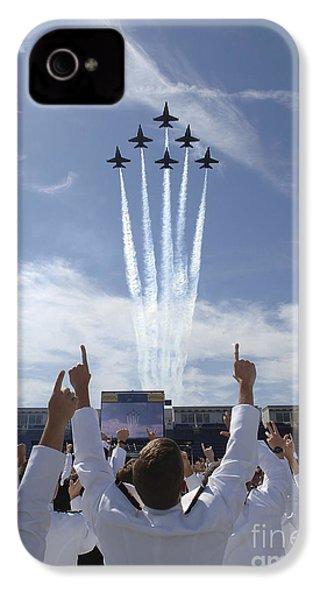 Members Of The U.s. Naval Academy Cheer IPhone 4 Case
