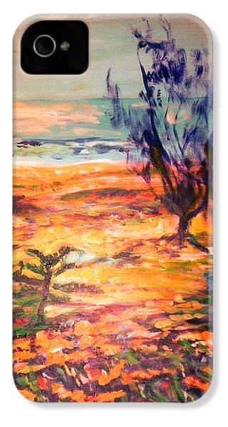 IPhone 4 Case featuring the painting Memory Pandanus by Winsome Gunning