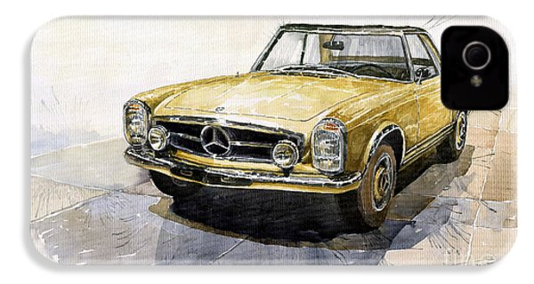 Mercedes Benz W113 Pagoda IPhone 4 Case by Yuriy  Shevchuk