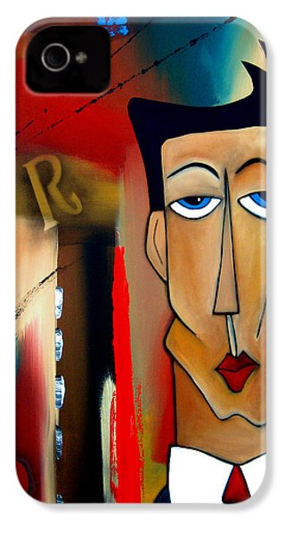 Merger - Abstract Art By Fidostudio IPhone 4 Case by Tom Fedro - Fidostudio