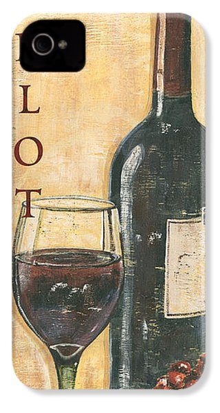 Merlot Wine And Grapes IPhone 4 Case by Debbie DeWitt
