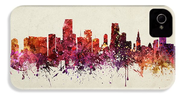 Miami Cityscape 09 IPhone 4 Case by Aged Pixel