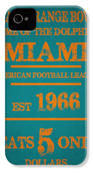 Miami Dolphins Sign IPhone 4 Case