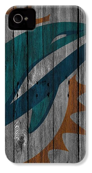 Miami Dolphins Wood Fence IPhone 4 Case