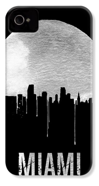 Miami Skyline Black IPhone 4 Case