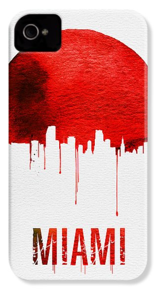 Miami Skyline Red IPhone 4 / 4s Case by Naxart Studio