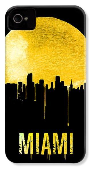Miami Skyline Yellow IPhone 4 / 4s Case by Naxart Studio