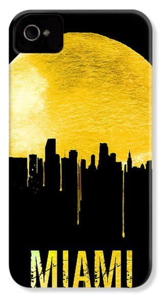 Miami Skyline Yellow IPhone 4 Case