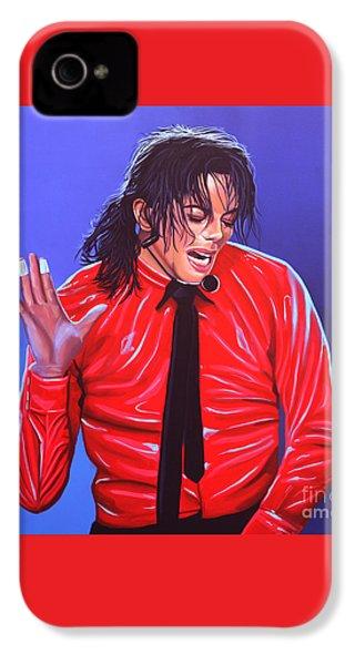 Michael Jackson 2 IPhone 4 / 4s Case by Paul Meijering