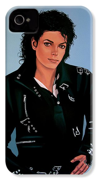 Michael Jackson Bad IPhone 4 Case by Paul Meijering