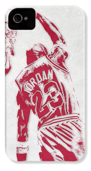 Michael Jordan Chicago Bulls Pixel Art 1 IPhone 4 Case