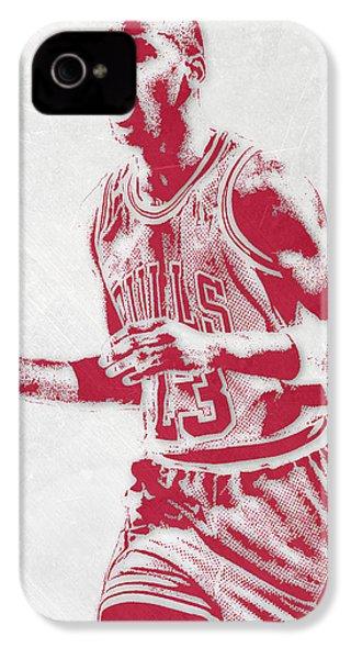 Michael Jordan Chicago Bulls Pixel Art 2 IPhone 4 Case