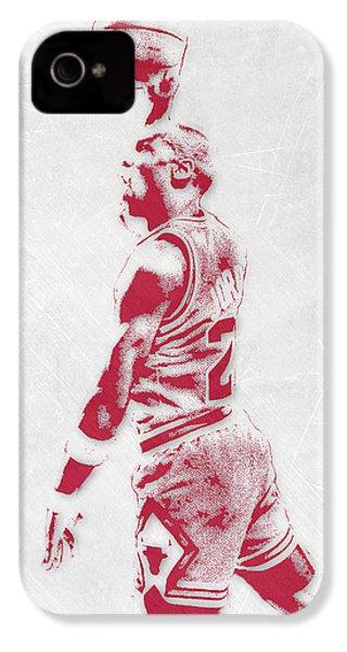 Michael Jordan Chicago Bulls Pixel Art 3 IPhone 4 Case
