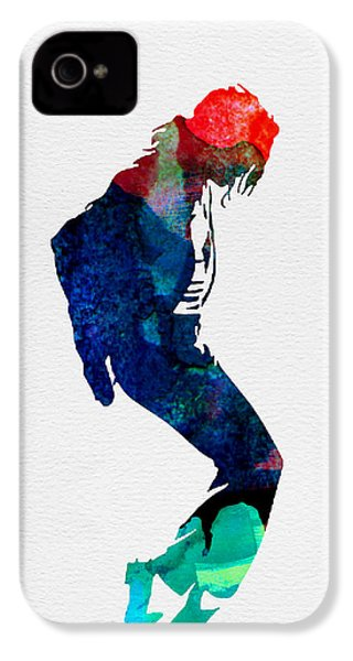 Michael Watercolor IPhone 4 Case by Naxart Studio