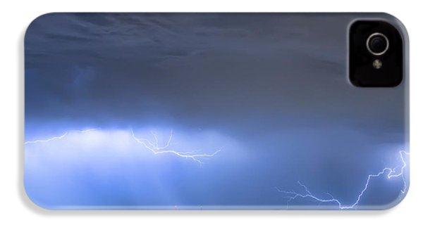 IPhone 4 Case featuring the photograph Michelangelo Lightning Strikes Oil by James BO Insogna