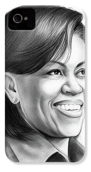 Michelle Obama IPhone 4 Case by Greg Joens