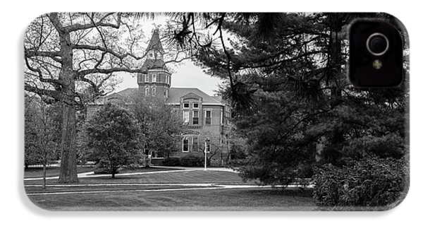 Michigan State University Campus Black And White  IPhone 4 Case by John McGraw