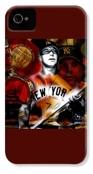 Mickey Mantle Collection IPhone 4 / 4s Case by Marvin Blaine