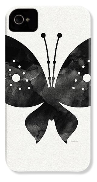 Midnight Butterfly 2- Art By Linda Woods IPhone 4 Case by Linda Woods