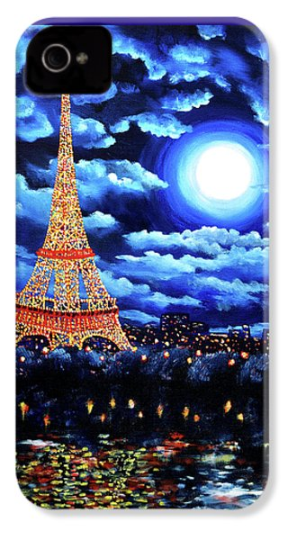 Midnight In Paris IPhone 4 Case by Laura Iverson