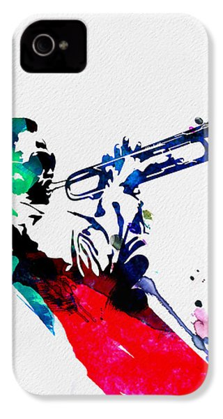 Miles Watercolor IPhone 4 Case by Naxart Studio