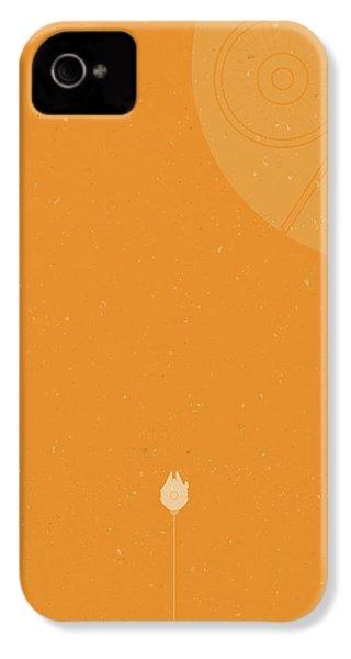 Millennium Falcon Meets Death Star IPhone 4 Case by Samuel Whitton