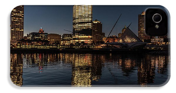 IPhone 4 Case featuring the photograph Milwaukee Reflections by Randy Scherkenbach
