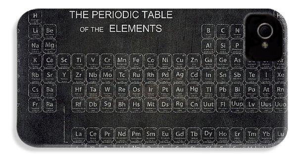 Minimalist Periodic Table IPhone 4 Case by Daniel Hagerman
